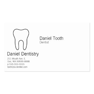 Symbolic Tooth Double-Sided Standard Business Cards (Pack Of 100)