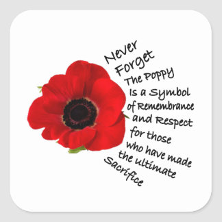 Symbolism Remembrance Day Stickers