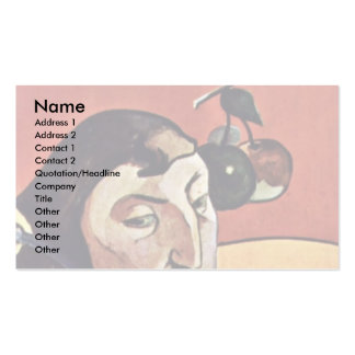 Symbolist Self-Portrait With Halo By Gauguin Paul Double-Sided Standard Business Cards (Pack Of 100)