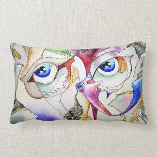 symbolizm, Blue eyes Throw Pillows