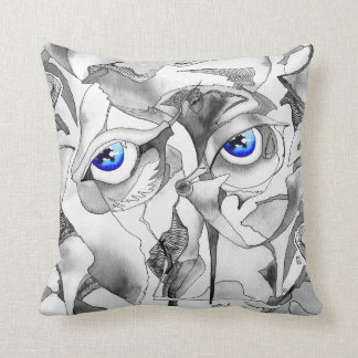 symbolizm, Blue eyes Throw Pillow