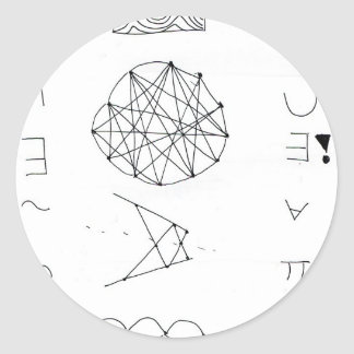 Symbolmancer Dance Classic Round Sticker