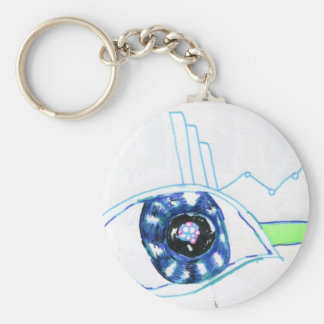 Symbolmancers Oculus Basic Round Button Keychain