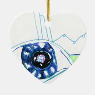 Symbolmancers Oculus Double-Sided Heart Ceramic Christmas Ornament