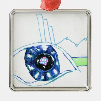Symbolmancers Oculus Square Metal Christmas Ornament
