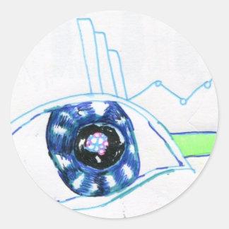 Symbolmancers Oculus Round Sticker