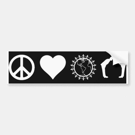 Symbology of PLUR (Dark) (Bumper Sticker)