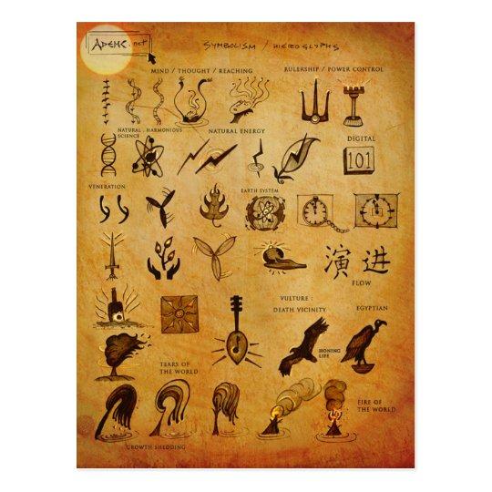 Symbols3 Postcard