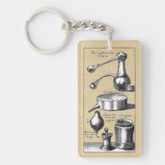 Symbols and Tools of An Alchemist Keychain