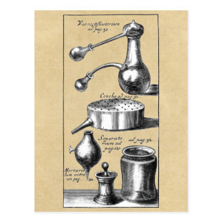 Symbols and Tools of An Alchemist Postcard