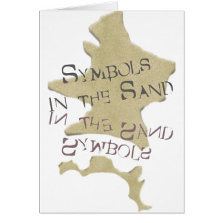 Symbols in the Sand Greeting Card