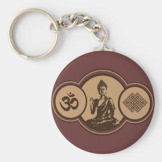 Symbols Of Buddha Keychain