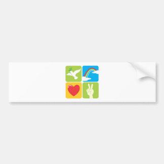 Symbols of Faith Hope Love and Peace Bumper Sticker
