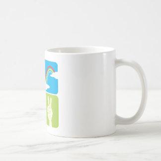 Symbols of Faith Hope Love and Peace Coffee Mug