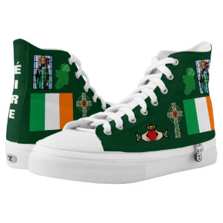 Symbols of Ireland ( Éire ) Two-Sided Hi-Top