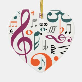 Symbols of Music Ceramic Ornament