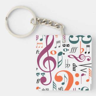 Symbols of Music Acrylic Key Chain