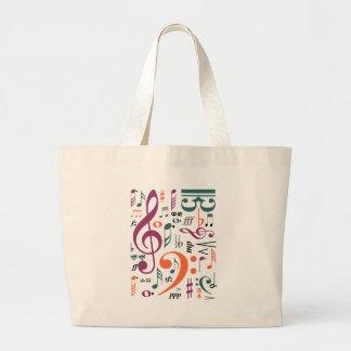 Symbols of Music Large Tote Bag