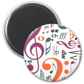 Symbols of Music Refrigerator Magnet