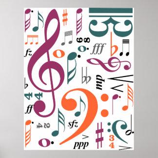 Symbols of Music Poster
