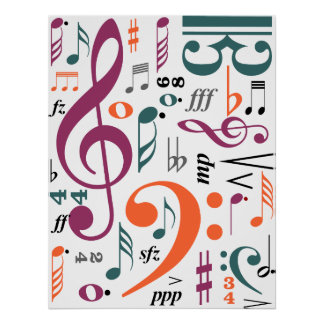 Symbols of Music Posters