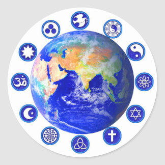 Symbols of Peace and Unity Classic Round Sticker