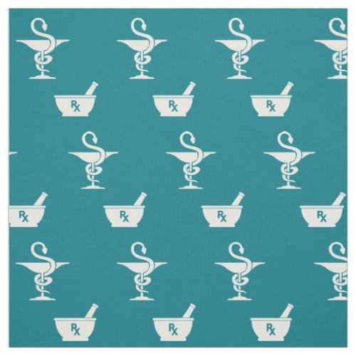 Symbols of Pharmacy Fabric