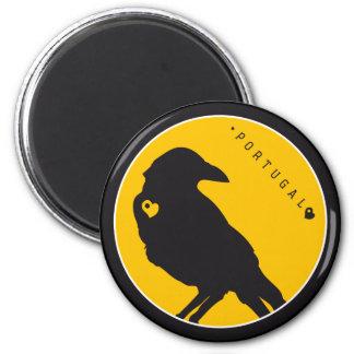 Symbols of Portugal - Crows Fridge Magnet