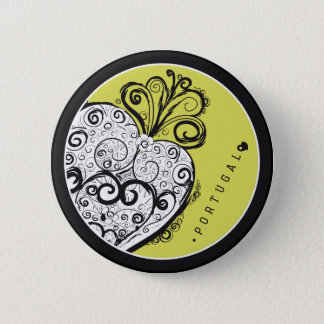 Symbols of Portugal - Filigree Filigrana Pinback Button