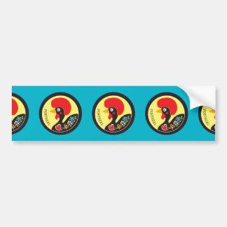 Symbols of Portugal - Galo de Barcelos Car Bumper Sticker