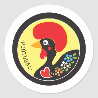 Symbols of Portugal - Galo de Barcelos Round Sticker