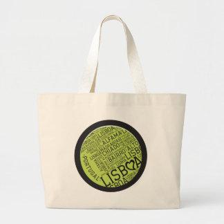 Symbols of Portugal - Lisbon Lisboa Large Tote Bag