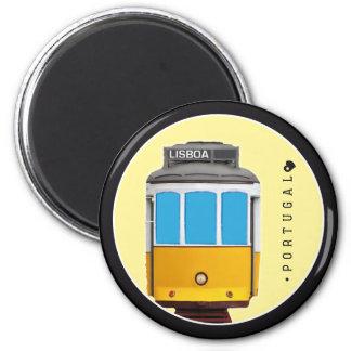 Symbols of Portugal - Lisbon Tramway 2 Inch Round Magnet