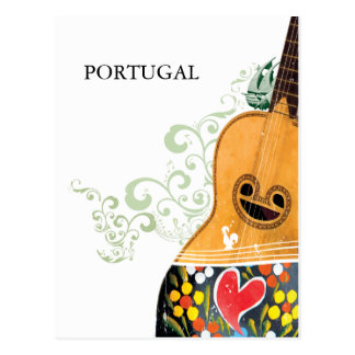 Symbols of Portugal - Portuguese Guitar Postcard