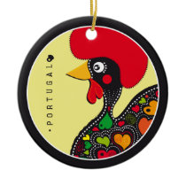 Symbols of Portugal - Rooster Ceramic Ornament