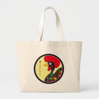 Symbols of Portugal - Rooster Large Tote Bag