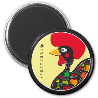Symbols of Portugal - Rooster 2 Inch Round Magnet