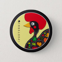 Symbols of Portugal - Rooster Pinback Button