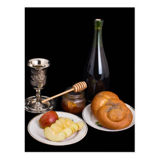 Symbols Of The Jewish New Year Postcard
