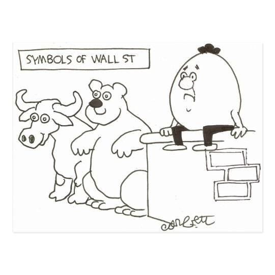 symbols of Wall St Postcard
