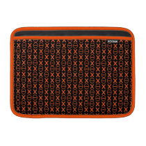 Symbols Pattern Code Strings Orange MacBook Air Sleeve