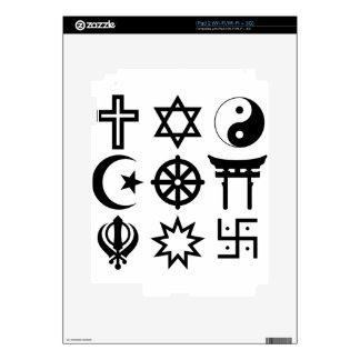 Symetric Religious Symbols Decals For The iPad 2