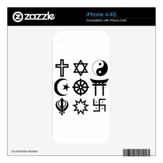 Symetric Religious Symbols Skins For The iPhone 4S