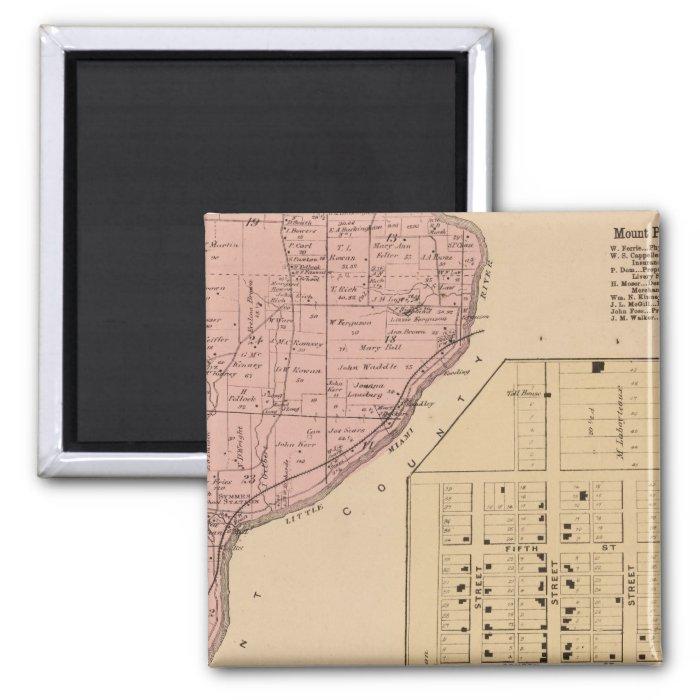 Symmes Mt Pleasant, Ohio 2 Inch Square Magnet