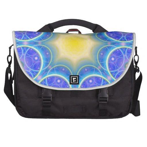 symmetric circles happy and joy symbol laptop bags