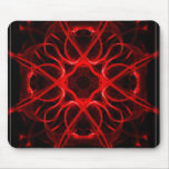 Symmetric, red abstract mouse pad