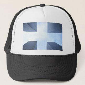symmetric trucker hat
