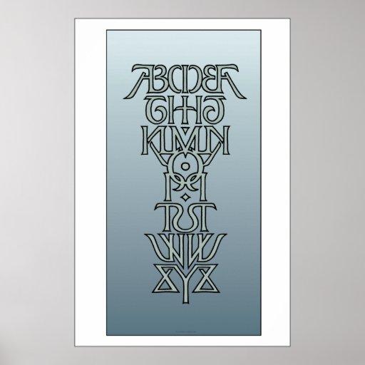 Symmetrical Alphabet Ambigram Poster