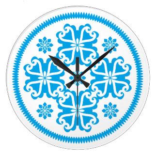 Symmetrical Blue Design Wall Clocks