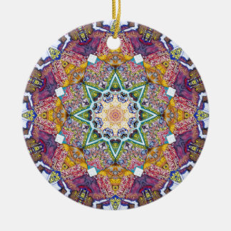 Symmetrical Colors Abstract Ceramic Ornament